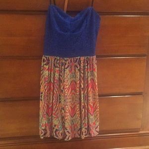 Strapless dress. Size 3